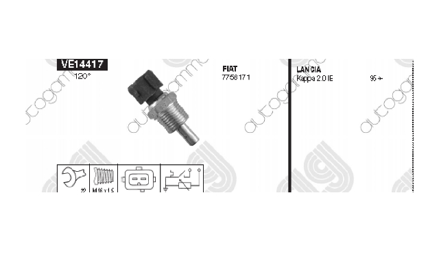 Lancia sensor water temp. (Part Number: 7758171) for Lancia Kappa in category